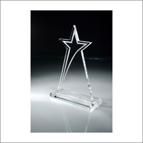 Rising Star Frosted Accent Crystal Award