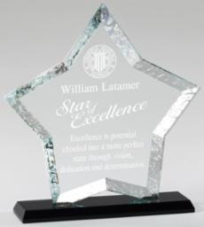 Sculpted Edge Optical Crystal Star Award