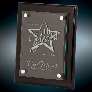 Laser Engraved Premium Floating Acrylic Piano Finish Plaque