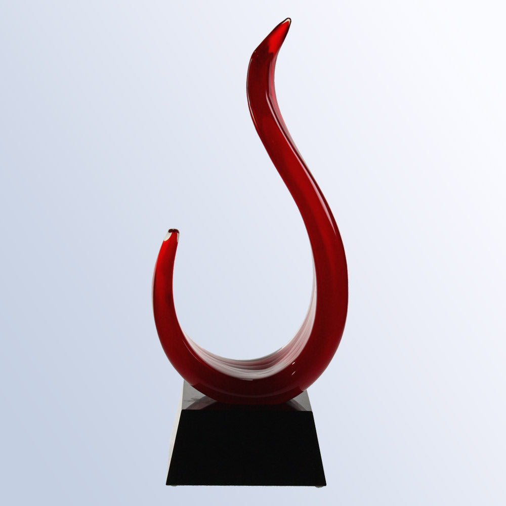 Lava Flame Art Glass Award