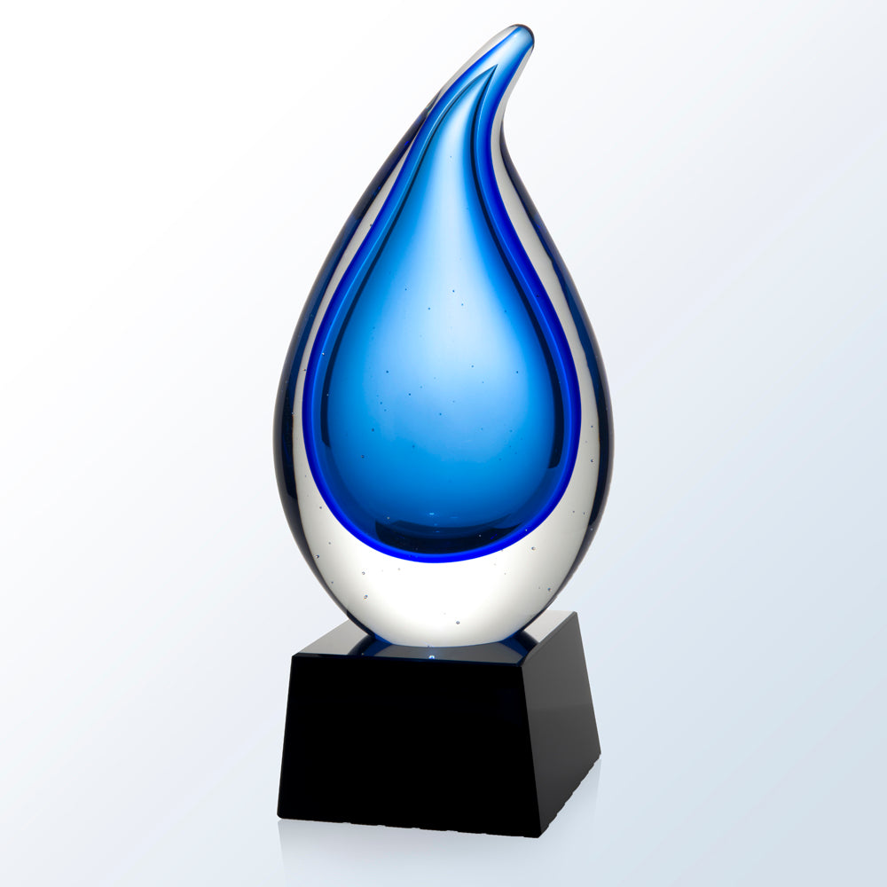 Rain Drop Art Glass Award