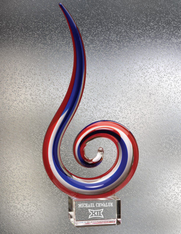 Patriotic Swirl Art Glass Award