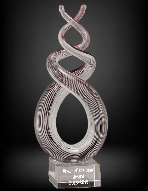 Harmony Twist Art Glass Award
