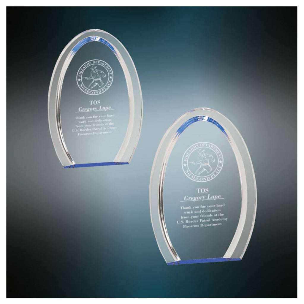 Halo Oval Acrylic Award