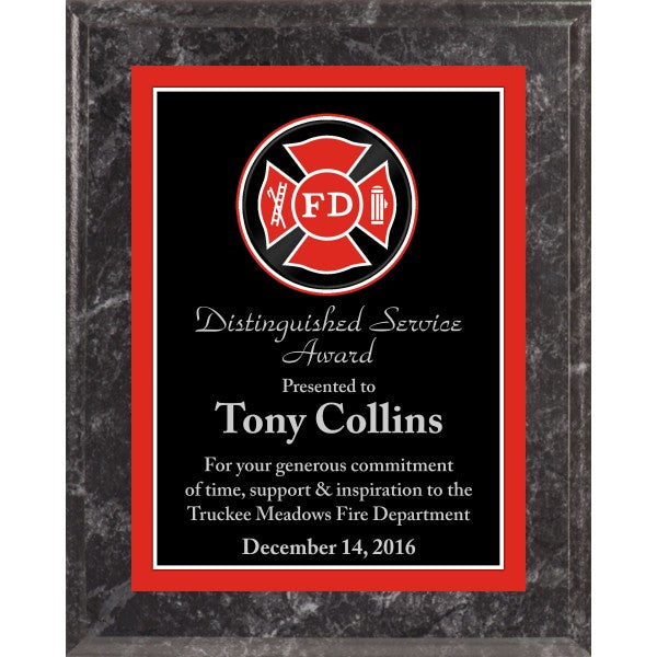 Printed Black Marble Finish Plaque