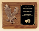 Sculpted Eagle Walnut Plaque