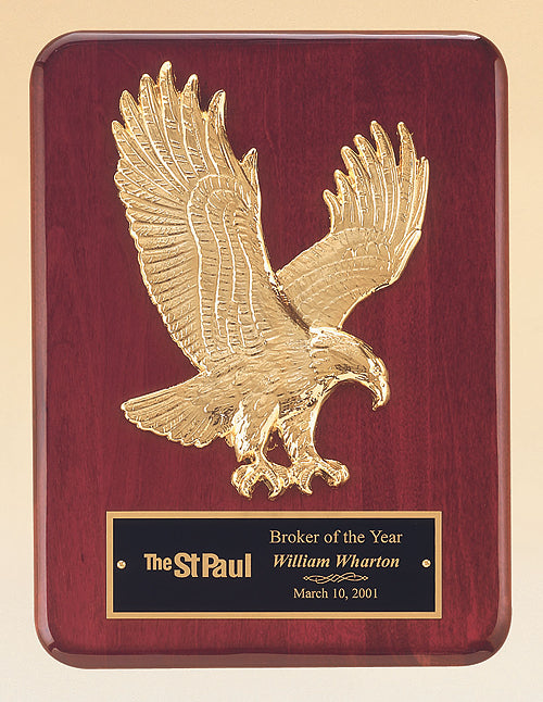 Sculpted Eagle Rosewood Piano Plaque