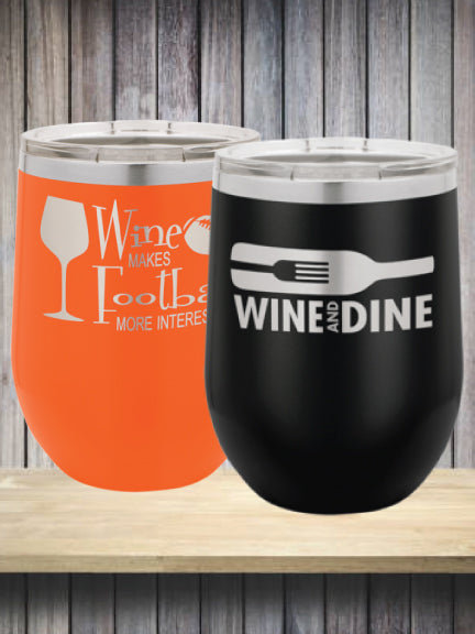 12 oz. Laser Engraved Stemless WineTumbler
