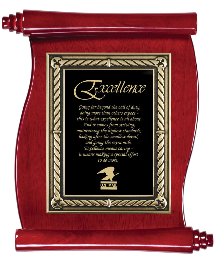 Rosewood Piano Scroll Plaque
