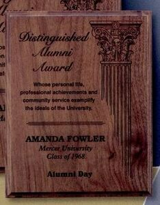 Laser Engraved Genuine Walnut or Red Alder Plaque