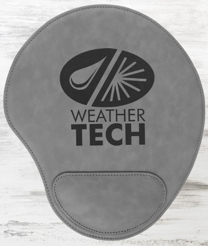 Laser Engraved Leather Mouse Pad