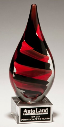 Helix Drop Art Glass Award