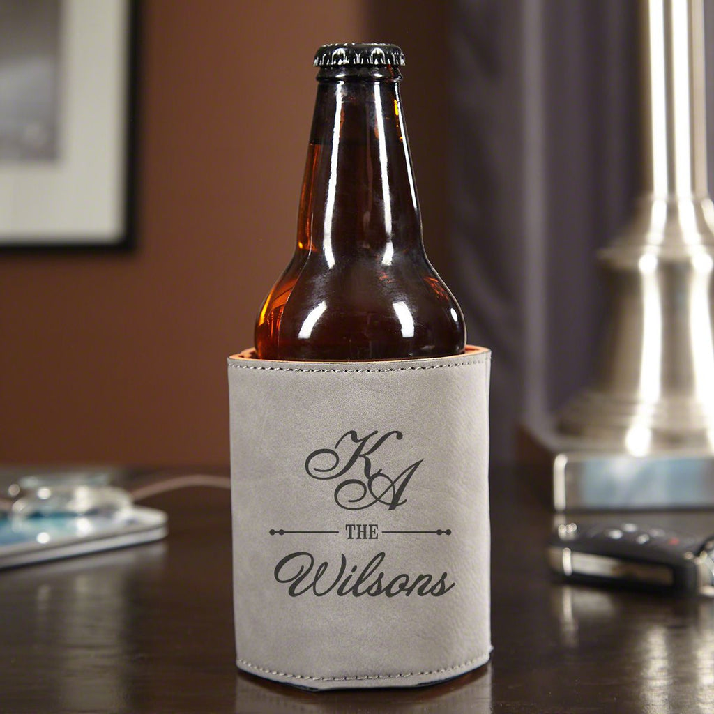 Laser Engraved Leather Koozie