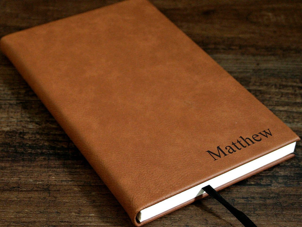 Laser Engraved Leather Journal