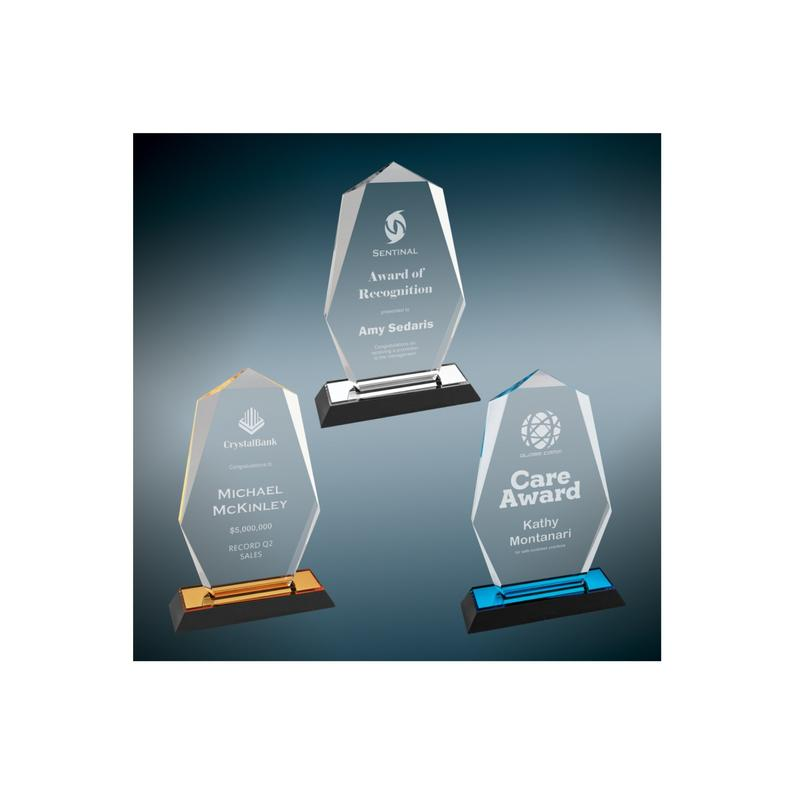 Octagon Point Impress Acrylic Award