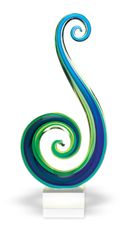 Marina Swirl Art Glass Award