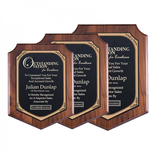 Walnut Shield Plaque