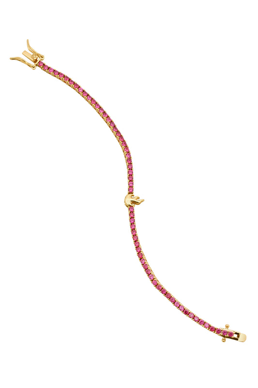 FLAME TENNIS BRACELET, RUBY