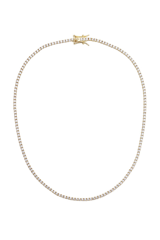 AMINA TENNIS NECKLACE, MINI