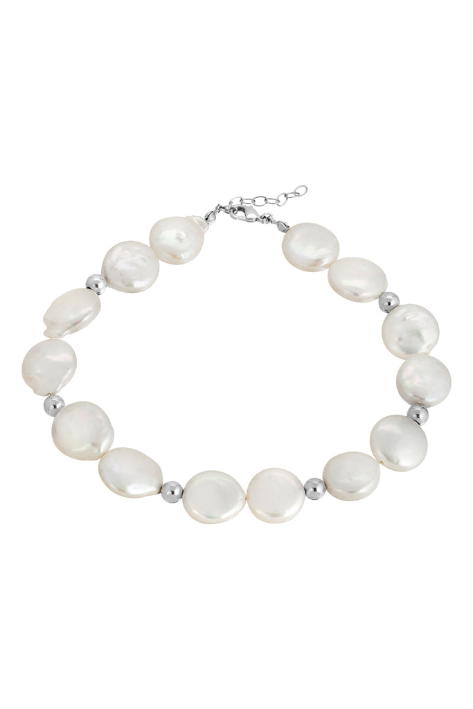 NOT YOUR MAMAS PEARL ANKLET | SILVER
