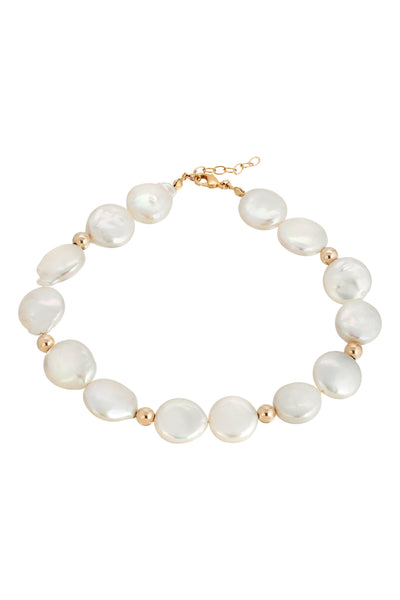 NOT YOUR MAMAS PEARL ANKLET | GOLD