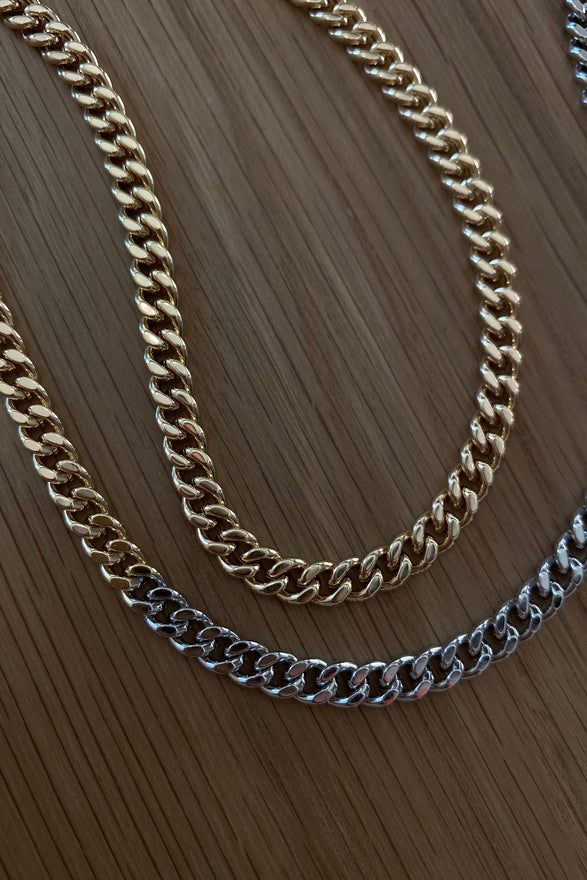 CELINE CURB LINK CHAIN, MIXED METAL, SMOOTH