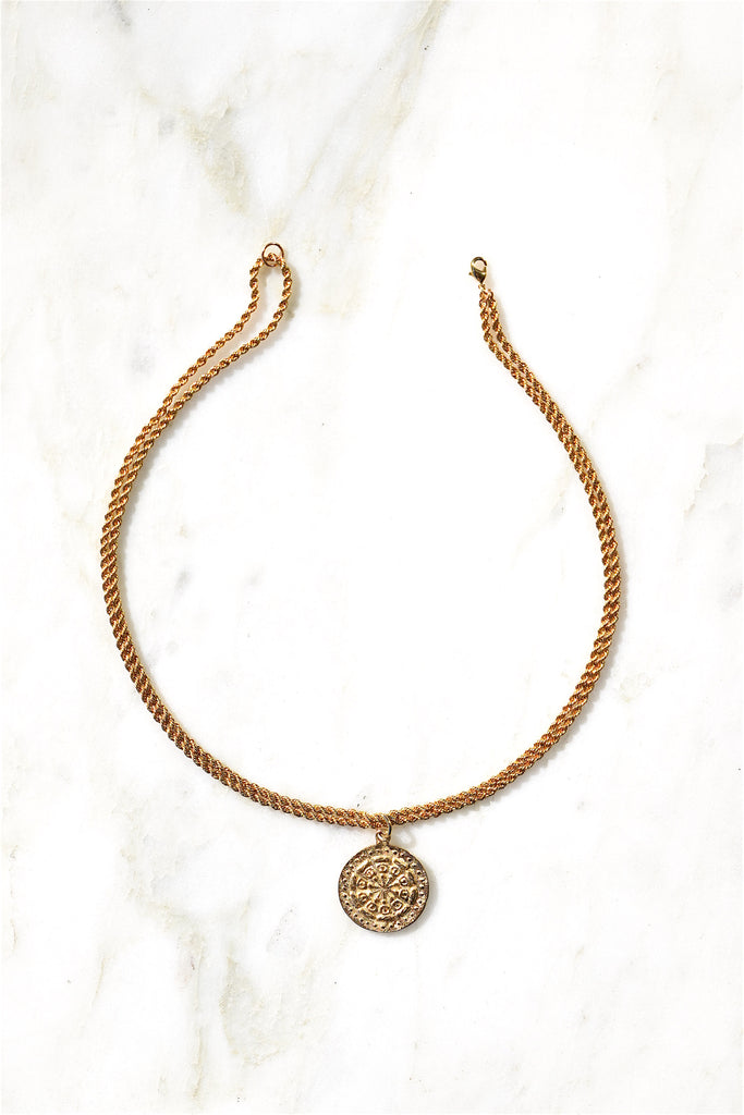 COLETTE COIN CHOKER | GOLD