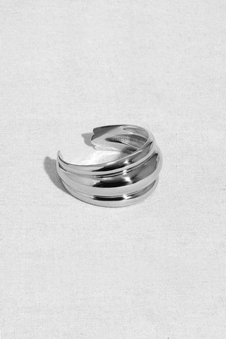 TRIPLE BANDED DOME CUFF | STERLING SILVER