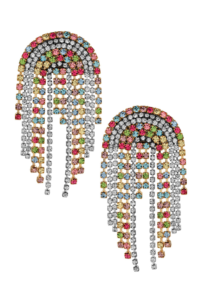 MIRANDA FRINGE EARRINGS | MULTI