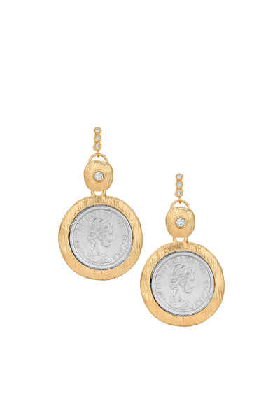 HOLD MY CROWN COIN EARRINGS