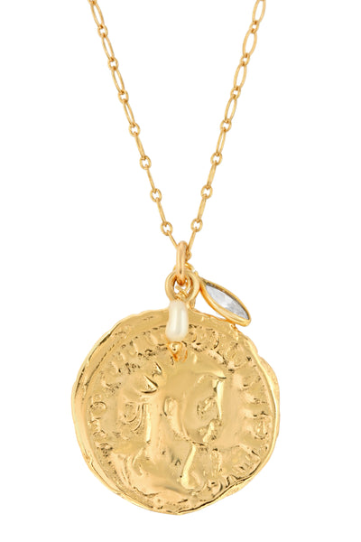 MERCI COIN NECKLACE | GOLD