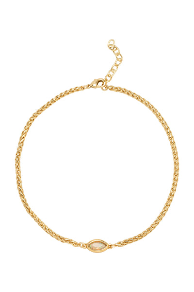 EVIL EYE ANKLET | GOLD