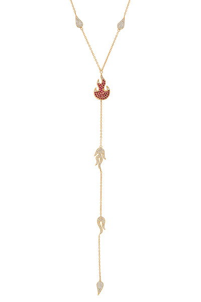 FLAME DRIP LARIAT | RED FLAME