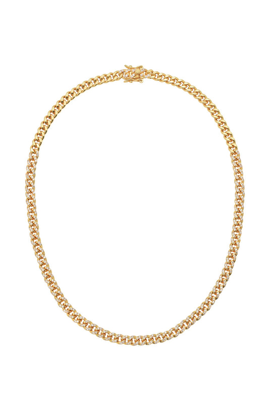 CELINE CURB LINK CHAIN, PAVE
