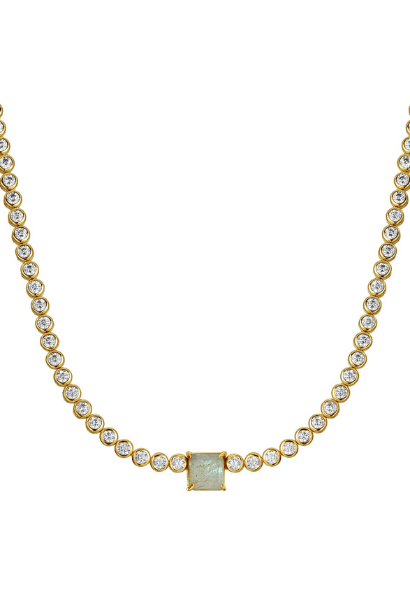 WHATTA GEM TENNIS NECKLACE | LABRADORITE