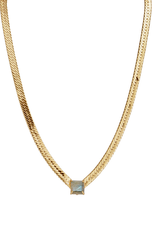 BELLA V NECKLACE | LABRADORITE