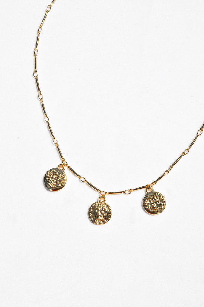 MARCIE COIN NECKLACE | GOLD