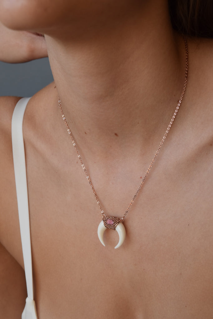 MOBY HORN | PINK TOURMALINE