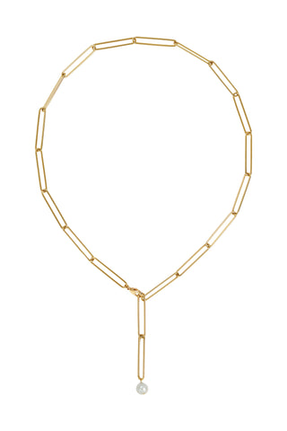 BAGUETTE COIN NECKLACE | GOLD