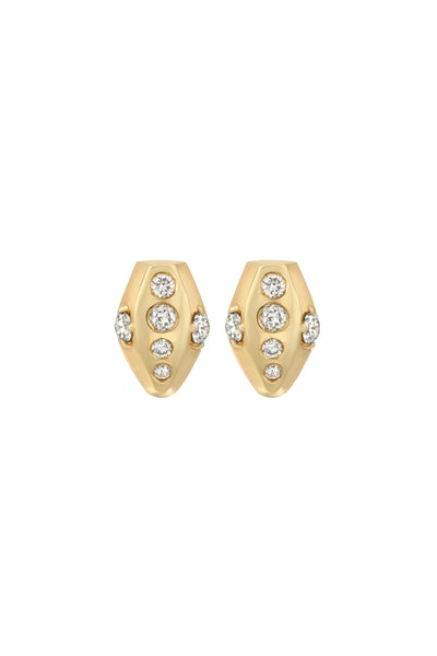 STUDDED SNAKE HEAD EARRINGS