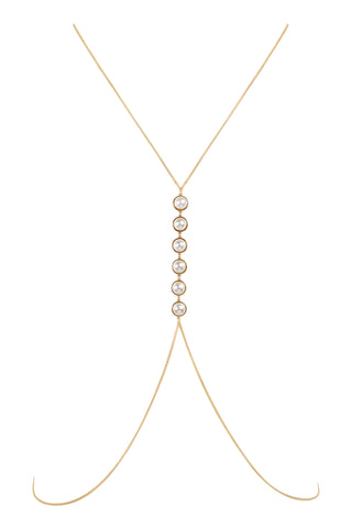 PEARL IMPERIAL BODY CHAIN| GOLD