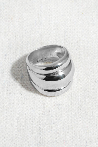 TRIPLE BANDED DOME RING | STERLING SILVER