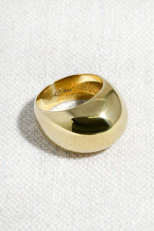 HIGH PROFILE DOME RING| HIGH POLISHED BRASS