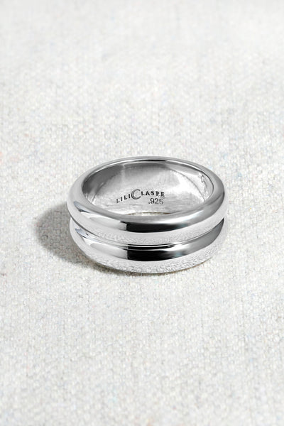 DOUBLE BANDED RING | STERLING SILVER