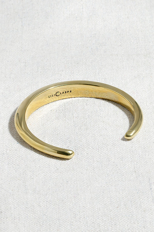 HALF DOME CUFF BRACELET | HIGH POLISHED BRASS