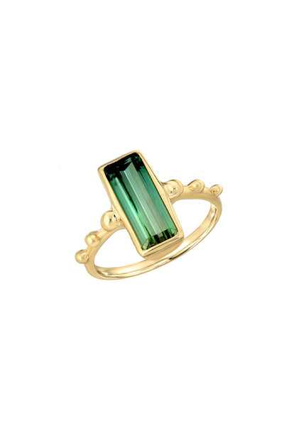 CROWN TOURMALINE RING
