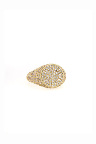 SIGNET BLING RING | GOLD