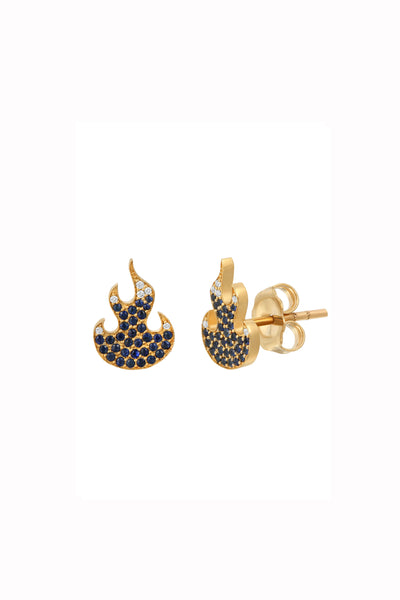 BABY FLAME EARRINGS | BLUE FLAME