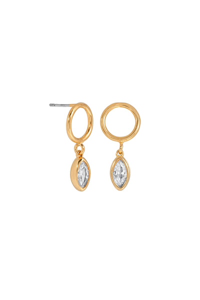 MARQUISE STONE DROPS | GOLD