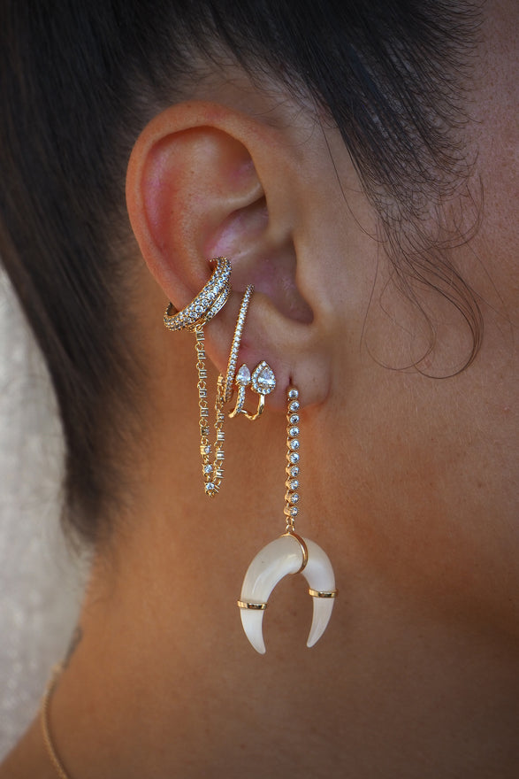 HANNA HORN EARRINGS